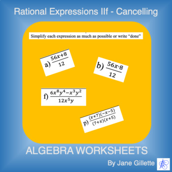 Rational Expressions IIf - Cancelling