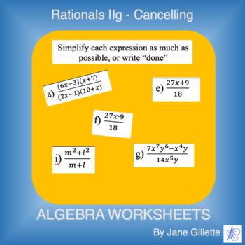 Rational Expressions IIg