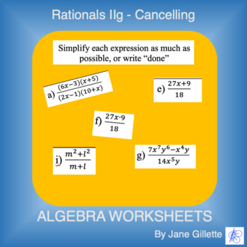 Rational Expressions IIg - Cancelling