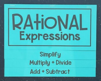Rational Expressions Overview (Foldable)