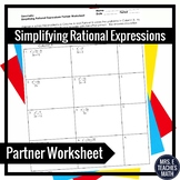 Rational Expressions Partner Worksheet