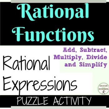 Rational Expressions Puzzle activity