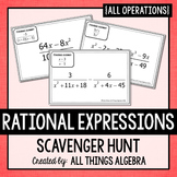 Rational Expressions Scavenger Hunt