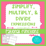 Rational Expressions-Simplify, Multiply, Divide Basketball Board Game