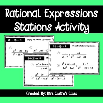 Rational Expressions Stations Activity