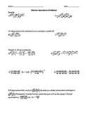Rational Expressions Worksheet