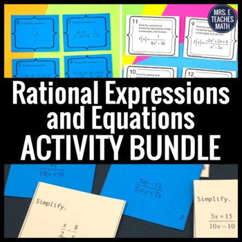 Rational Expressions and Equations Activity Bundle