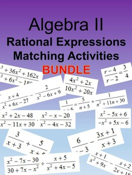 Rational Expressions and Equations Bundle