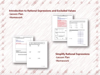 Rational Expressions and Equations Lesson Plan Bundle