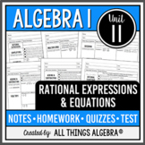 Rational Expressions and Equations (Algebra 1 Curriculum - Unit 10)