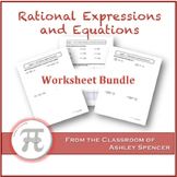 Rational Expressions and Equations Worksheet Bundle