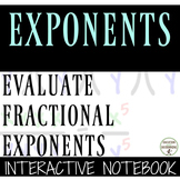 Rational Exponents Color-Coded Interactive Notebook Foldable
