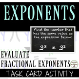 Exponents Task Card Activity