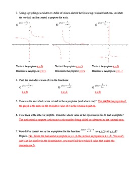 Rational Function Exploration/ Discovery