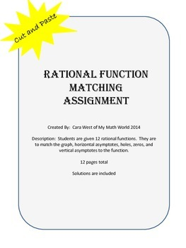 Rational Function Matching Assignment