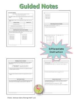 Algebra 2: Inverse Variation