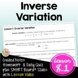 Inverse Variation (Algebra 2 - Unit 8)
