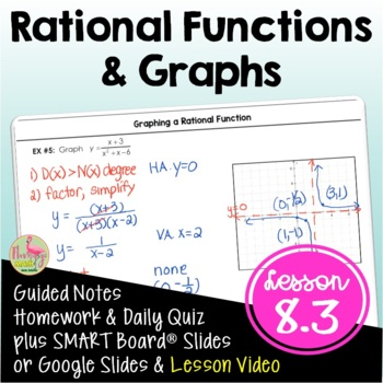 Algebra 2 Rational Functions And Graphs By Jean Adams Tpt