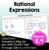 Rational Expressions (Algebra 2 - Unit 8)
