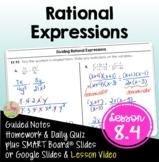 Rational Expressions (Algebra 2 - Unit 8)