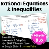 Solving Rational Equations (Algebra 2 - Unit 8)