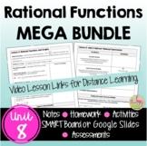 Rational Functions MEGA Bundle (Algebra 2 - Unit 8)