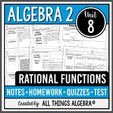 Rational Functions (Algebra 2 Curriculum - Unit 8) DISTANCE LEARNING