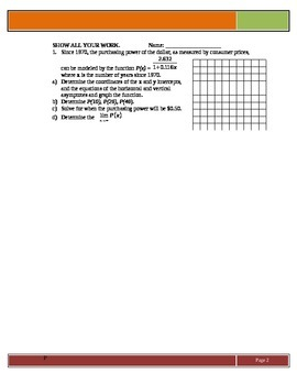 Rational Functions: Applications of Purchasing Power and V