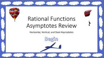 Rational Functions Asymptotes Review Game