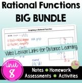 Rational Functions BIG Bundle (Algebra 2 - Unit 8)