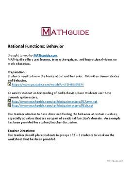 Rational Functions: Behavior