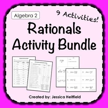 Rational Functions Activities Bundle: Algebra 2
