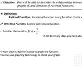 Rational Functions & Equations Mini Bundle (Common Core Algebra II Aligned)