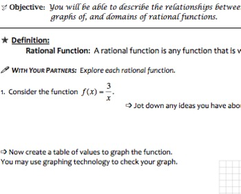 Rational Functions & Equations Mini Bundle (Common Core Algebra II Aligned)