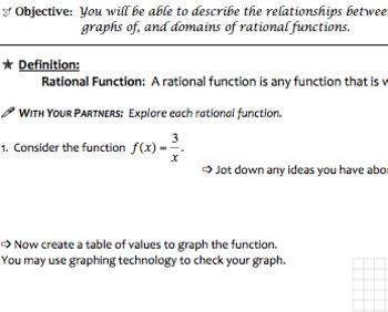 Rational Functions & Equations Mini Bundle (Common Core Al