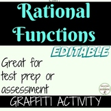Rational Functions Graffiti activity for Algebra 2