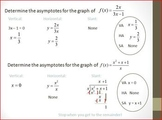 Rational Functions Graphing - Asymptotes and Holes (PP)