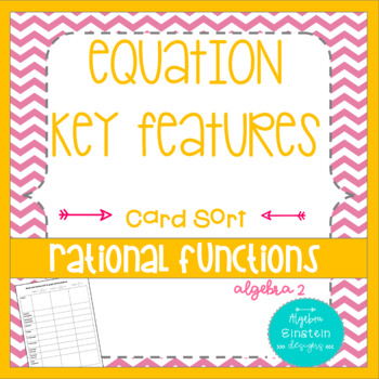 Rational Functions- Key Features Card Sort