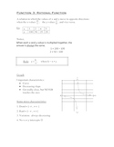 Rational Functions NOTES