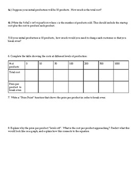 Rational Functions Price Point Task