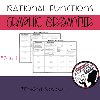 Rational Functions Review Graphic Organizer