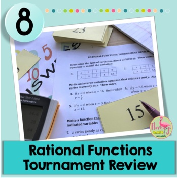 Algebra 2: Rational Functions Tournament Review Activity