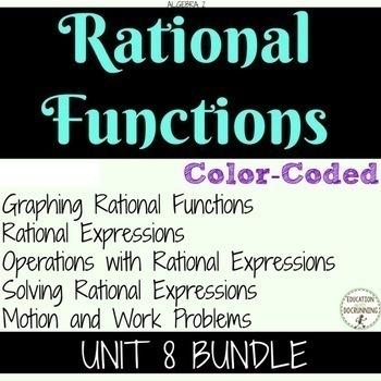 Rational Functions Unit 8 Algebra 2 Curriculum