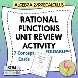 Algebra 2 - PreCalculus: Rational Functions Unit Review Book Activity