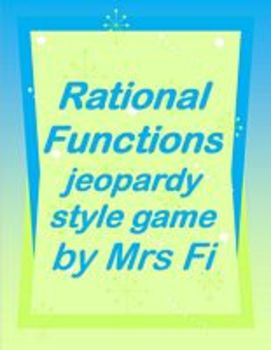 Rational Functions a jeopardy style game