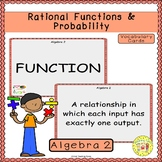 Rational Functions and Probability Vocabulary Cards