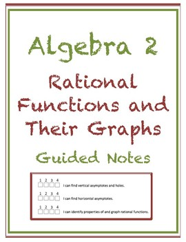 Rational Functions and Their Graphs Guided Notes (Editable)