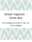 Rational Inequalities Station Maze