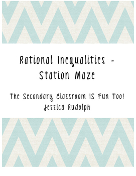 Rational Inequalities Station Maze