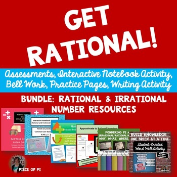 Rational Irrational Numbers 8.NS.1 2 Practice Activities Bundle